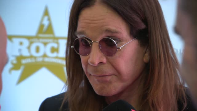 interview ozzy osbourne on his new tour at classic rock awards 2013 at the roundhouse on november 14 2013 in london england - popular music tour stock videos and b-roll footage