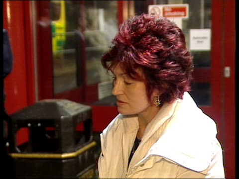 quad bike accident christmas in hospital berkshire slough sharon osbourne speaking to press sot - ozzy osbourne stock videos & royalty-free footage
