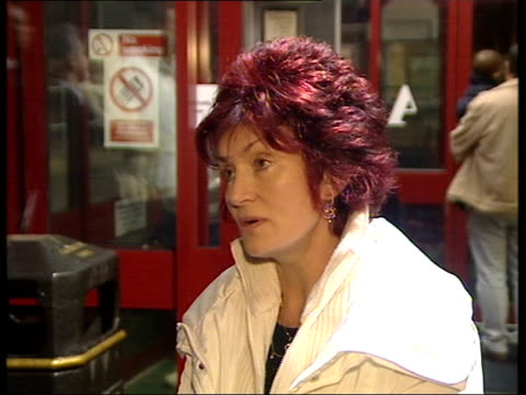 Quad bike accident Christmas in hospital ENGLAND Berkshire Slough Sharon Osbourne speaking to press SOT