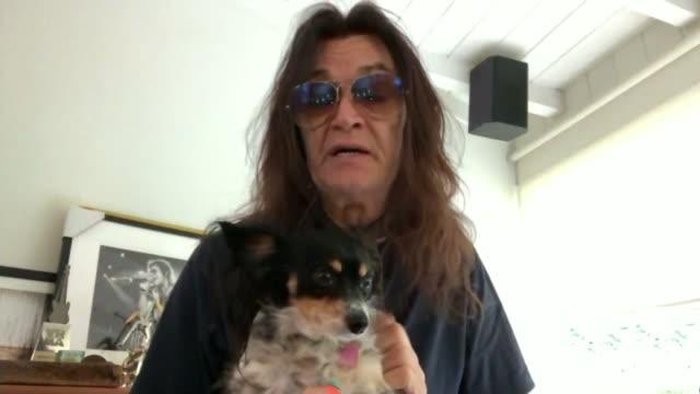 ozzy osbourne reveals he has parkinson's disease via internet glenn hughes interview sot - ozzy osbourne stock videos & royalty-free footage