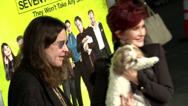 ozzy osbourne, sharon osbourne at seven psychopaths los angeles premiere on 10/1/2012 in westwood, ca. - シャロン オズボーン点の映像素材/bロール
