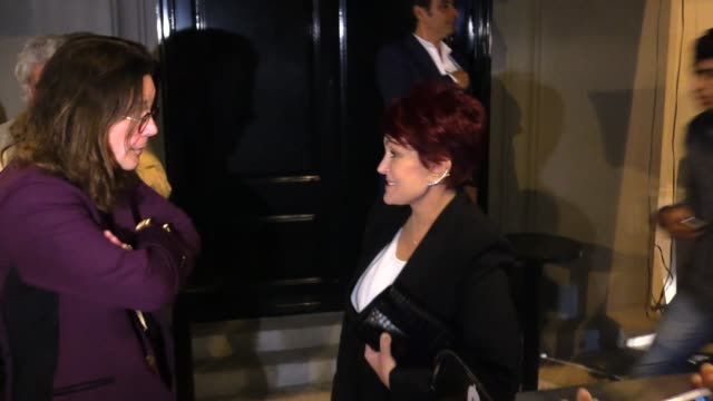 ozzy osbourne sharon osbourne greet fans at craigs in west hollywood in celebrity sightings in los angeles - sharon osbourne stock videos & royalty-free footage