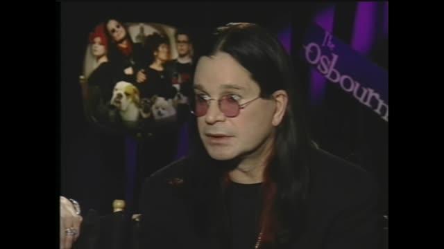 ozzy osbourne talks about doing reality tv - ozzy osbourne stock videos & royalty-free footage