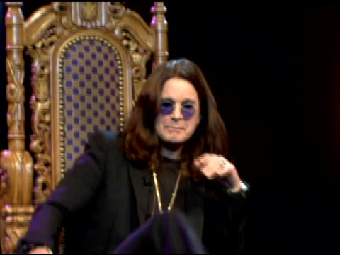Ozzy Osbourne talks about 'The Osbournes' being the first and greatest reality show of its kind at the Unveiling of Signature Series TShirt with Ozzy...