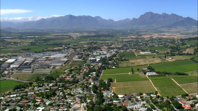 Paarl  - Aerial View - Western Cape,  Cape Winelands District Municipality,  Drakenstein,  South Africa