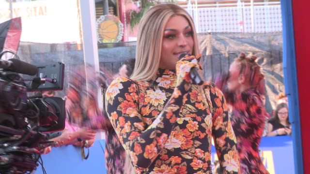 pabllo vittar performs on stage during the red carpet of the mtv emas 2019 at fibes conference and exhibition centre in seville - television show stock-videos und b-roll-filmmaterial