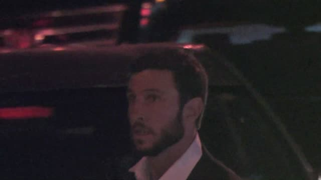 pablo schreiber at the 2015 entertainment weekly pre-emmy party at fig and olive in west hollywood at celebrity sightings in los angeles on september... - パブロ シュライバー点の映像素材/bロール