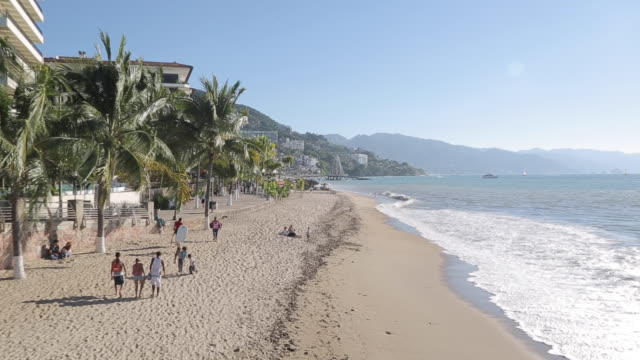 Pacific, Beach & Promenade, Downtown, Puerto Vallarta, Jalisco, Mexico, North America