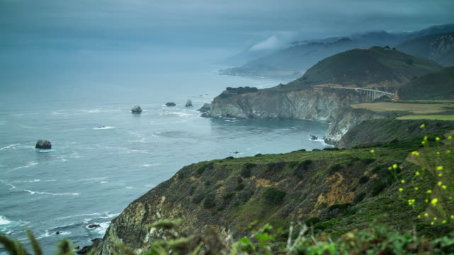 pacific coast highway in big sur - timelapse - route 001 stock videos & royalty-free footage