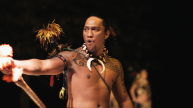pacific islander cultural dancer - stamm stock-videos und b-roll-filmmaterial
