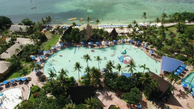pacific islands club in tumon bay, guam, united states - lido stock videos & royalty-free footage