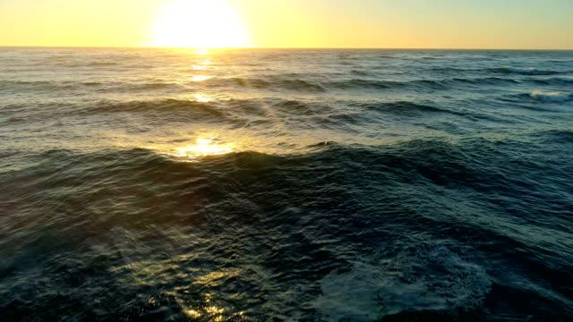 pacific ocean at sunset. - atmosphere filter stock videos & royalty-free footage
