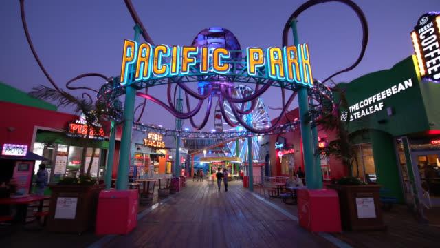 pacific park - santa monica pier stock videos & royalty-free footage