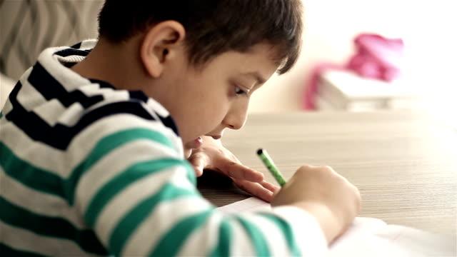 6 lezione di scrittura di confezioni - lingua umana video stock e b–roll