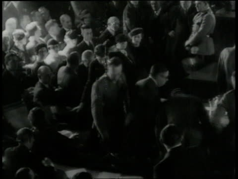 packed courtroom as charles a. lindbergh is testifying in trial of accused killer of his infant son / new jersey, united states - 1935 stock videos & royalty-free footage