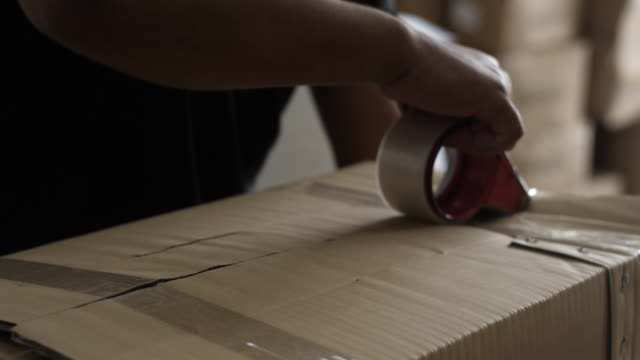 packing carton prepare for delivery - packaging stock videos & royalty-free footage
