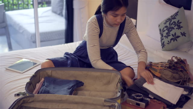 packing luggage. - luggage stock videos & royalty-free footage