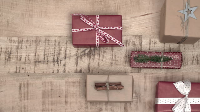 packing the christmas present/ debica/ poland - wrapping paper stock videos & royalty-free footage