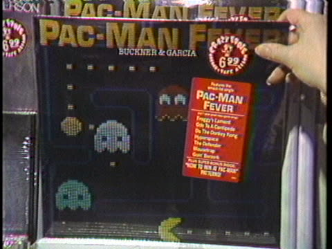 pacman fever hits the the united states as record albums further popularize the video game - audio software stock videos & royalty-free footage