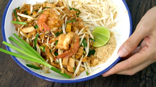 pad thai. - serving size stock videos and b-roll footage