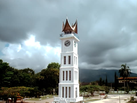 padang indonesia clocktower timelapse - dutch culture stock videos and b-roll footage