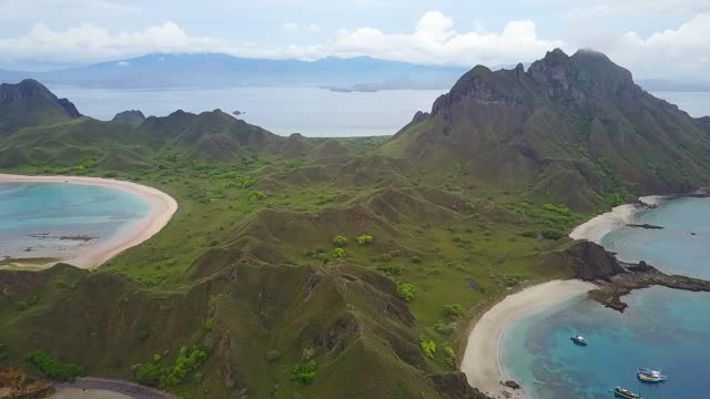 padar island flores. - barry kusuma stock videos and b-roll footage
