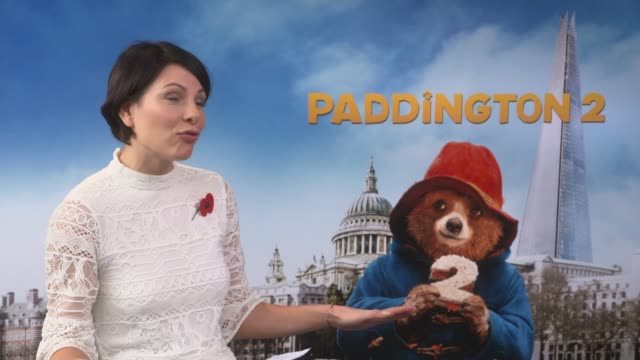 paddington 2 release; hugh bonneville interview with other cast members beside sot - on doing the splits - doing the splits stock videos & royalty-free footage