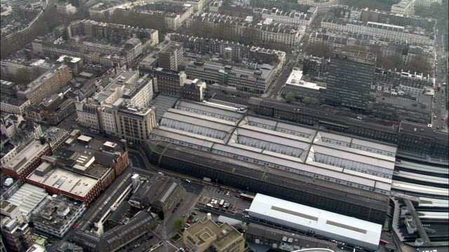 Paddington Station  - Aerial View - England, Greater London, City of Westminster, United Kingdom