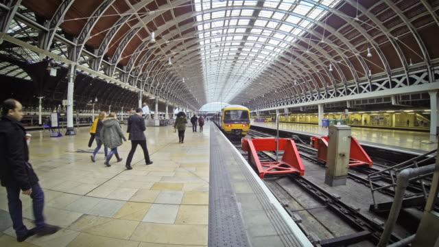 paddington station in london city, time-lapse - paddington railway station stock videos & royalty-free footage