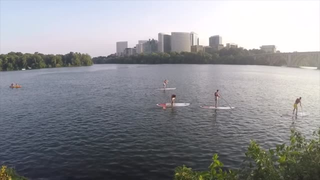 paddle boarding dc - water sports equipment stock videos and b-roll footage