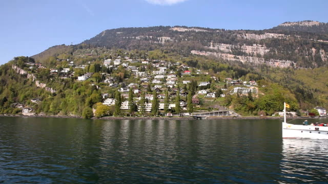 paddle steamer - lake lucerne stock videos & royalty-free footage