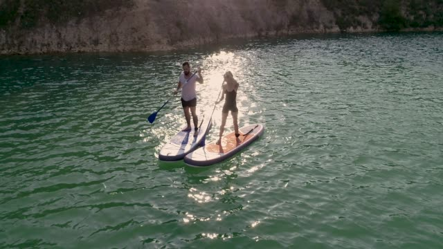 paddleboarding - oar stock videos and b-roll footage
