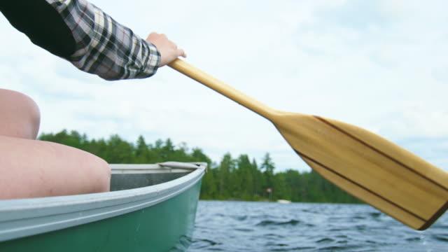Paddling a Canoe on the Lake