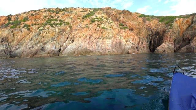 pov: corsicas 西海岸でパドリング - ピアナ点の映像素材/bロール