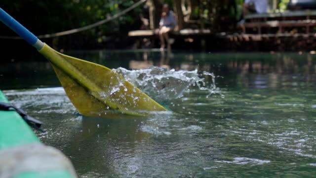 paddling canoe - kayaking stock videos & royalty-free footage