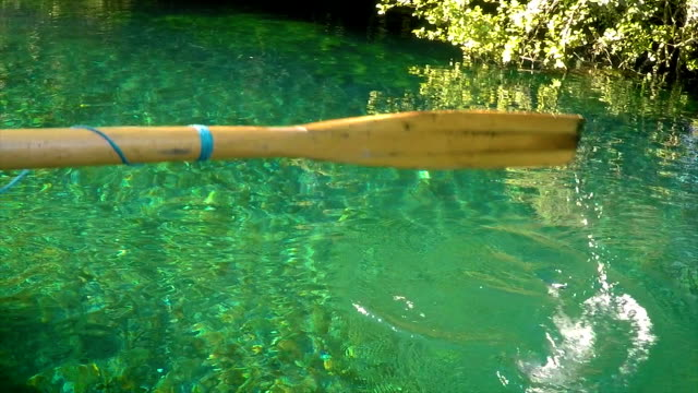 paddling on a beautiful lake.close up - standing water stock videos & royalty-free footage