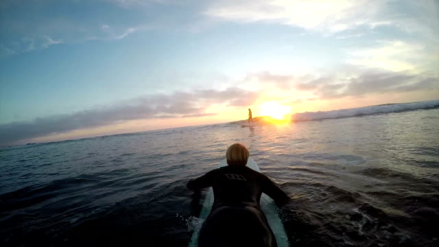 paddling out - using a paddle stock videos & royalty-free footage