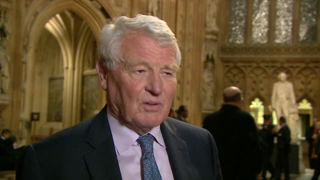 paddy ashdown saying that he hopes the house of commons acts after the house of lords ruled that eu migrants living and working in the uk are... - paddy ashdown stock-videos und b-roll-filmmaterial