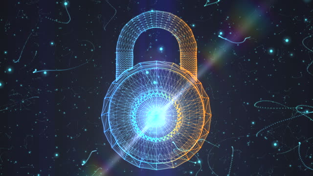padlock generated from a particle vortex - log on stock videos & royalty-free footage