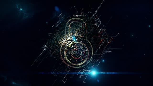 stockvideo's en b-roll-footage met hangslot matrix kubus - bedreiging