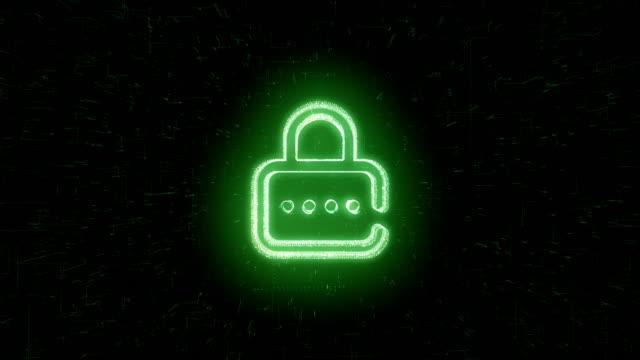 padlock symbol animation - web address stock videos & royalty-free footage