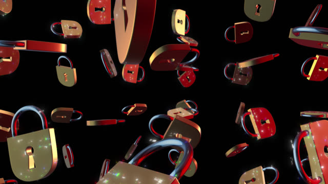 padlocks with glitch effect on air alpha channel - password stock videos & royalty-free footage