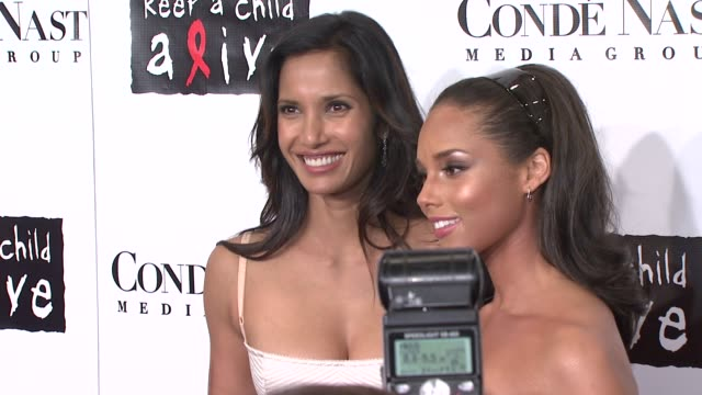 padma lakshmi and alicia keys at the conde nast media group presents the 4th annual 'black ball' concert for 'keep a child alive' arrivals at the... - alicia keys stock videos and b-roll footage