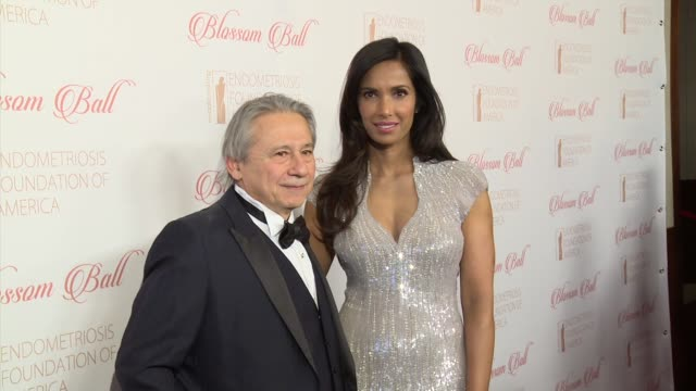 padma lakshmi and dr. tamer seckin at 8th annual blossom ball to benefit the endometriosis foundation of america at pier sixty at chelsea piers on... - chelsea piers stock videos & royalty-free footage