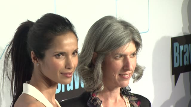 padma lakshmi and guest at bravo media's 2012 upfront presentation at 548 west 22nd street on april 04, 2012 in new york, new york - パドマ ラクシュミ点の映像素材/bロール