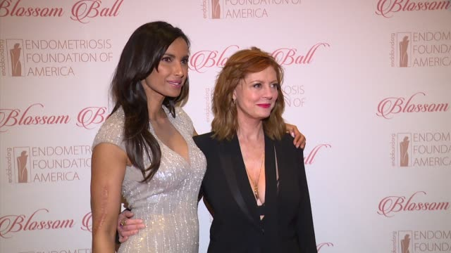 padma lakshmi and susan sarandon at 8th annual blossom ball to benefit the endometriosis foundation of america at pier sixty at chelsea piers on... - chelsea piers stock videos & royalty-free footage