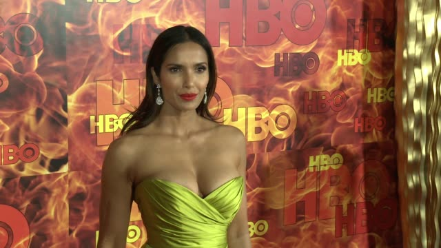 padma lakshmi at the 2015 hbo emmy after party at the plaza at the pacific design center on september 20, 2015 in los angeles, california. - パドマ ラクシュミ点の映像素材/bロール