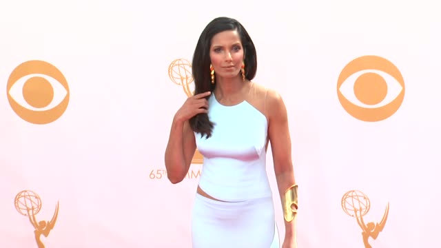 padma lakshmi at the 65th annual primetime emmy awards arrivals in los angeles ca on 9/22/13 - annual primetime emmy awards stock-videos und b-roll-filmmaterial