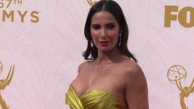 Padma Lakshmi at the 67th Annual Primetime Emmy Awards at Microsoft Theater on September 20 2015 in Los Angeles California