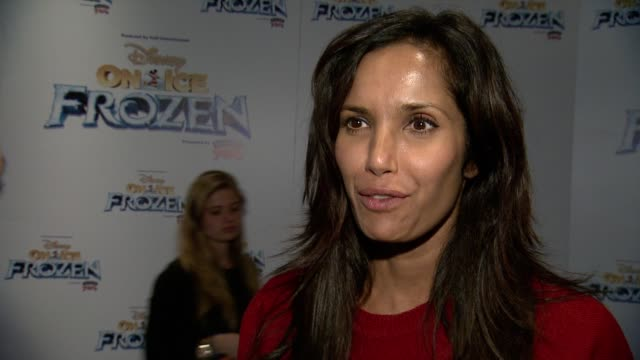 INTERVIEW Padma Lakshmi discusses she's here tonight to watch Frozen with her daughter who is obsessed with it She gives a message to the troops on...